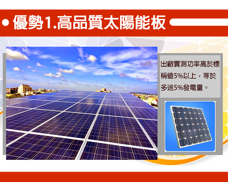 High quality solar panels