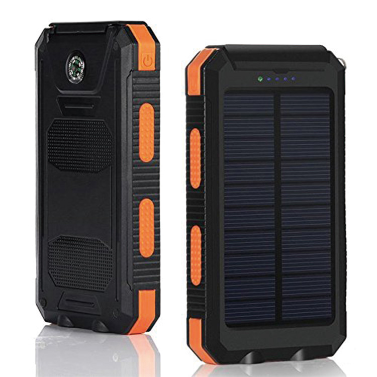 Solar power bank 10000mAh Orange