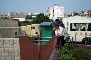 2009 TAINAN FlowMaster Technology Co., LTD Off-grid Solar PV System for Monitoring Water Flow Rate