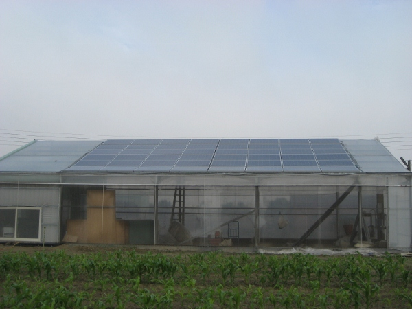 10KW GRID-TIED SOLAR SYSTEM ON GREEN HOUSE ROOF FOR MR. CHANG IN CHIAYI COUNTY IN 2011